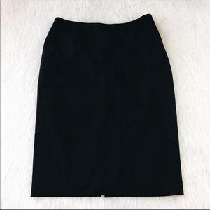 Express Black Pencil Skirt With Back Slit
